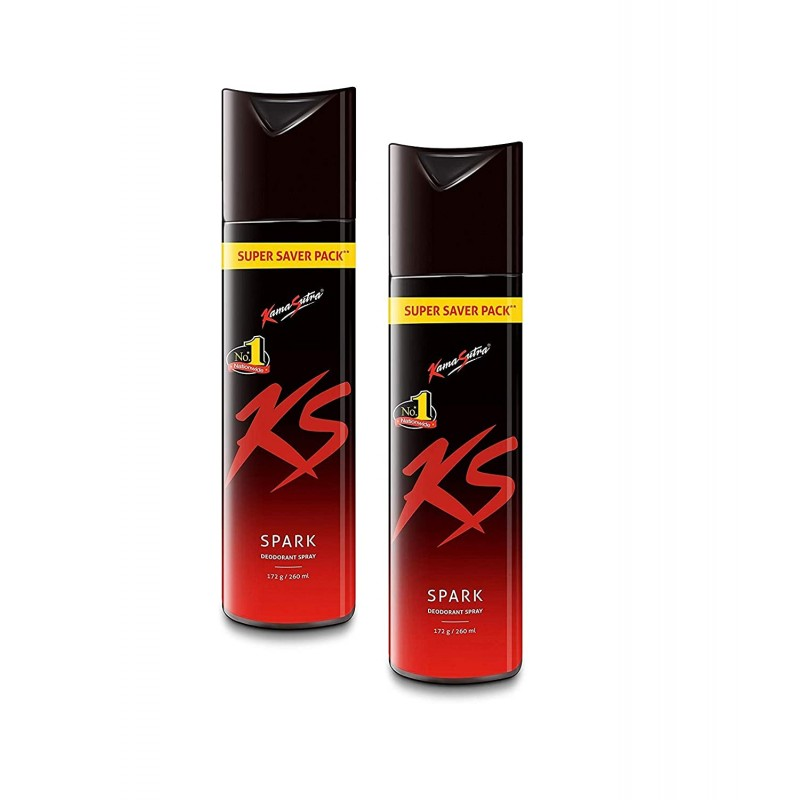 Kama Sutra Spark Deodorants for Men, 220 ml (Pack of 2)