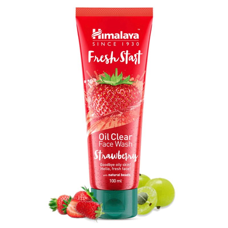 Himalaya Fresh Start Oil Clear Face Wash, Strawberry, 100ml